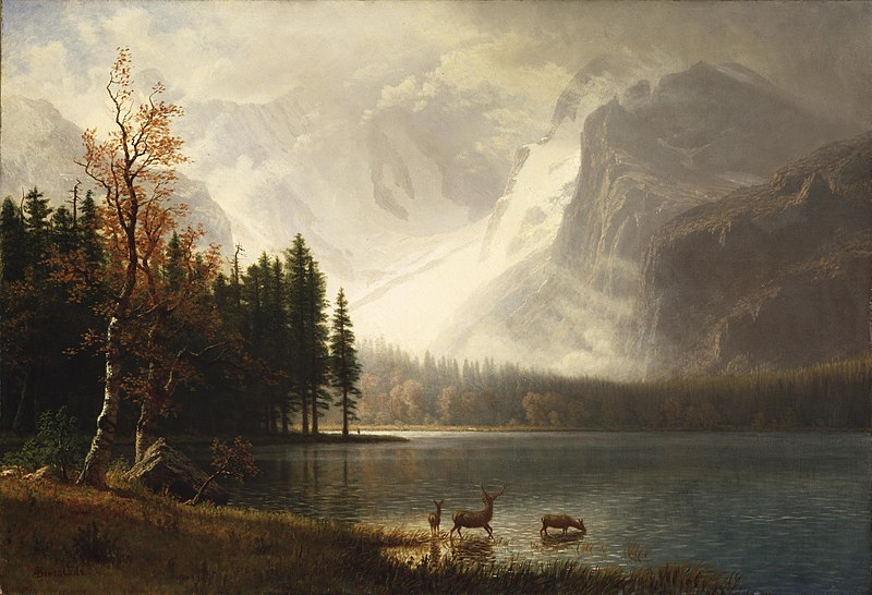 File:Albert Bierstadt - Estes Park, Colorado, Whyte's Lake.jpg
