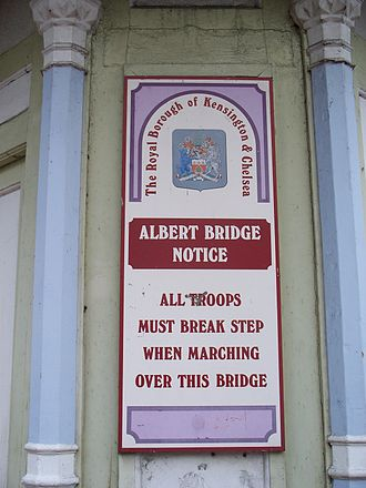Albert Bridge, London - Warning to troops