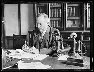 Albert Green (Australian politician) - Green working at his desk, 1931