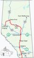 Alberta Highway 2 Map 2017.png