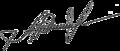 Aleksandr Rutskoy signature.png