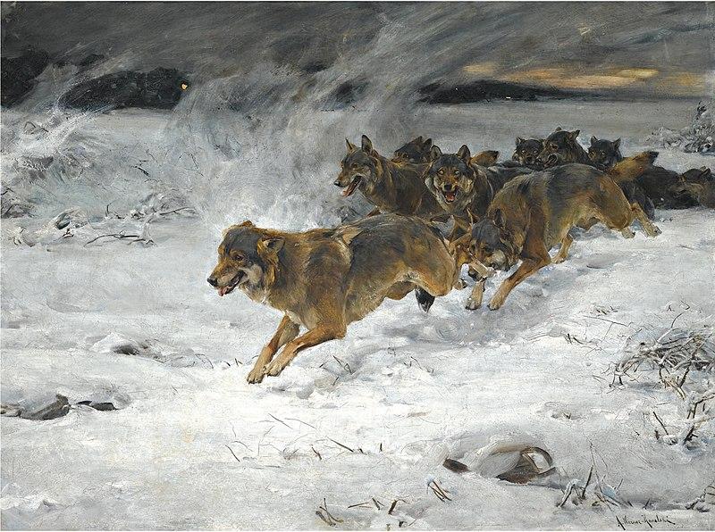 File:Alfred Kowalski-Wierusz - Stado wilków.jpg