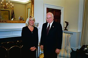 Alice S. Fisher - Fisher with Dick Cheney in 2003