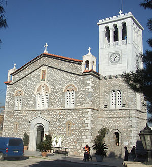 The church in Aliveri, Greece