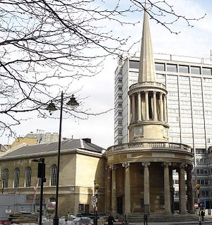 Regency architecture - John Nash's All Souls Church, Langham Place, London