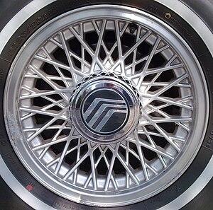 Alloy wheel - Alloy wheel on a passenger car