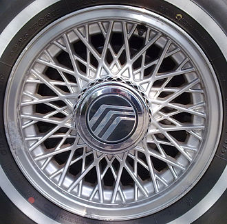 Alloy wheel - Alloy wheel on a passenger car