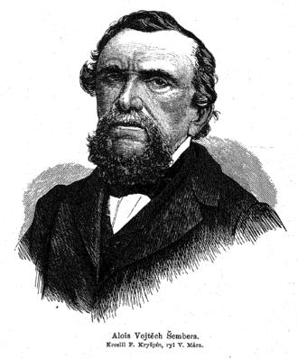 Alois Vojtěch Šembera - Alois Vojtěch Šembera (1867)