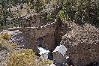 Henson Creek - The dam on Henson creek that failed in 1973.