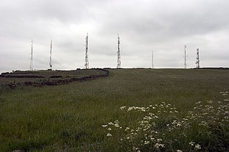 Alport Height - The array of masts at Alport Height
