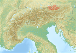 Alps location map (Salzburger Kalkalpen, PWN).png