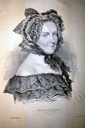 Amalie Haizinger, Lithographie von Josef Kriehuber, 1852 (Quelle: Wikimedia)