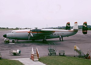 Airspeed Ambassador - Dan Air Ambassador at Bristol Airport in 1965