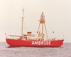 National Register of Historic Places listings in Manhattan below 14th Street - Image: Ambrose Lightship