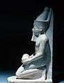Amenhotep II in the Double Crown, Kneeling and Offering MET 13.182.6 07.jpg