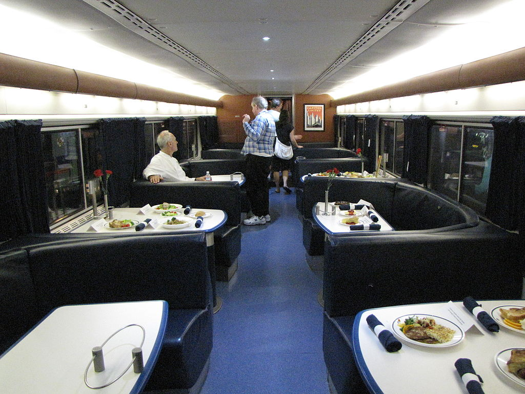 file amtrak superliner dining wikimedia commons. Black Bedroom Furniture Sets. Home Design Ideas