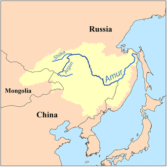 Argun River (Asia) - Image: Amur watershed