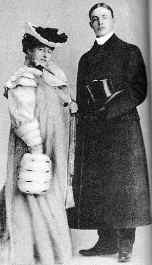 Frank Buck (animal collector) - Buck with first wife Amy Leslie, ca. 1901