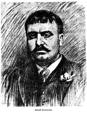 André Castaigne - Castaigne in 1893 by an anonymous member of the Charcoal Club of Baltimore