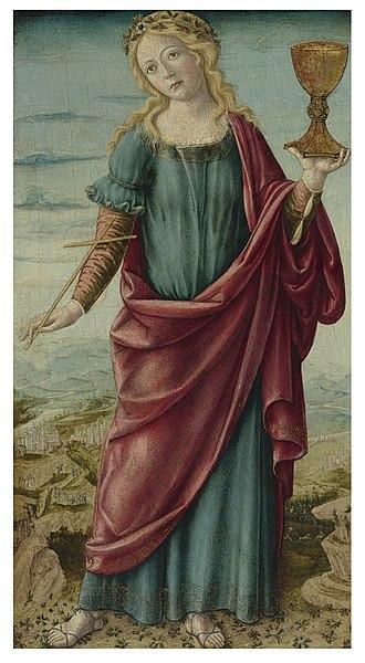 Andrea di Niccolò - Faith by Andrea di Niccolò,  Gallery Wildenstein (New York), between 1495-1500