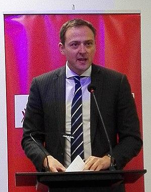 Andrew Kirton - Kirton speaking in 2017