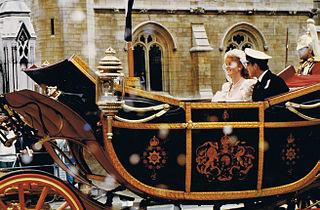 Wedding of Prince Andrew and Sarah Ferguson 1986 wedding of Prince Andrew and Sarah Ferguson in Westminster Abbey, London