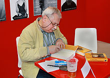 Andrzej Sapkowski at Book World Fair in Prague in 2010