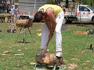 Woodsman - Woodchopping at the Angaston Show, Angaston, South Australia, 2007