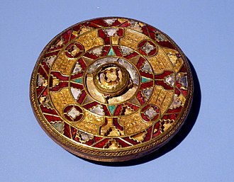 Anglo-Saxon dress - 7th century disc brooch