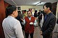 Anil Shrikrishna Manekar with Nattawut Chongamornkul and Ekapong Sripaoraya - Indo-Finnish-Thai Exhibit Development Workshop - NCSM - Kolkata 2014-11-24 9515.JPG