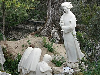 Fátima, Portugal - Monument of the Guardian Angel of Portugal apparition to the three little shepherd children of Fátima.