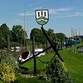 Anker und Wappen - Wischhafen (Anchor and coat of arms - Wischhafen) - geo.hlipp.de - 31737.jpg