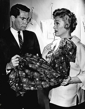 Anthony George - George, as Don Corey, with guest star Eve Arden in Checkmate (1961)