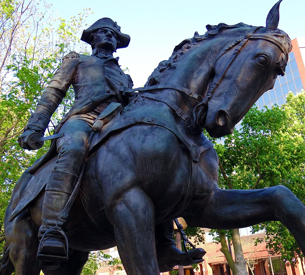 Anthony Wayne George Ganiere Statue