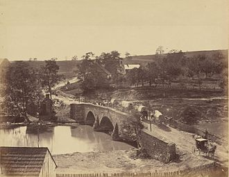 Antietam Creek - The middle bridge over Antietam Creek, also near Sharpsburg, photographed September 1862