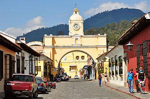 Antigua Guatemala Santa Catalina archway 2009