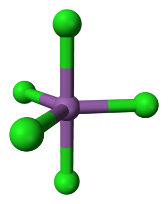 Antimony pentachloride - Image: Antimony pentachloride 3D balls