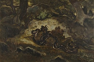 Forest of Fontainebleau - Image: Antoine Louis Barye Python Crushing a Gnu Walters 37815