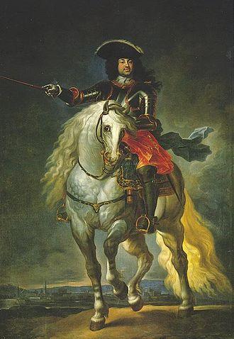 Antonio Farnese, Duke of Parma - Antonio Farnese on horseback by Ilario Spolverini