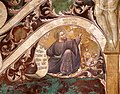 Antonio vite e collaboratore, arbor vitae, trasfigurazione e miracolo della madonna della neve, 1390-1400 ca. 17 san luca.jpg