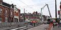 Anzin & Valenciennes - Travaux de raccordement des lignes A & B du tramway de Valenciennes à la Croix d'Anzin le 9 août 2013 (10).JPG