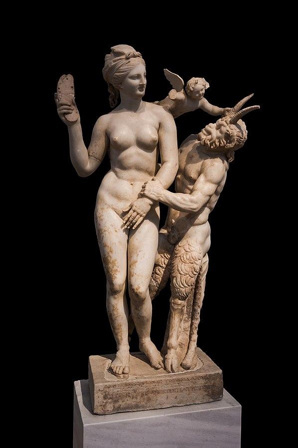 Group of Aphrodite, Pan an Eros