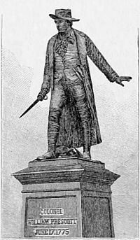 Appletons' Prescott William (soldier) - statue.jpg