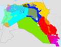 Arabic dialects SyriaIraq.png