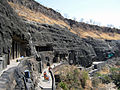 Architectural view of Ajanta Caves.JPG