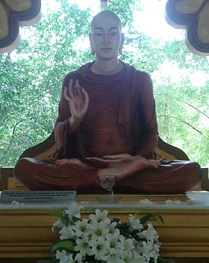 Mahinda (Buddhist monk) - An Arhat Mahinda Statue at a Monastery