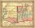Arizona and New Mexico. LOC 98687198.tif