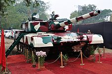 Arjun - Main Battle Tank - Pride of India - Exhibition - 100th Indian Science Congress - Kolkata 2013-01-03 2476.JPG