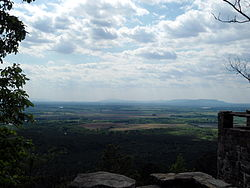 The River Valley as seen from atop Petit Jean Mountain in Petit Jean State Park