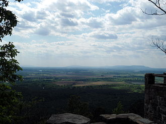 Arkansas River Valley - The River Valley as seen from atop Petit Jean Mountain in Petit Jean State Park